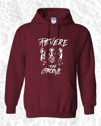 Revere the Groove Hoodie red