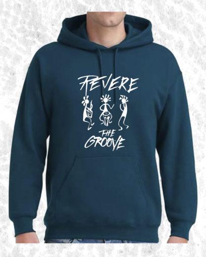 Revere the Groove Hoodie blue