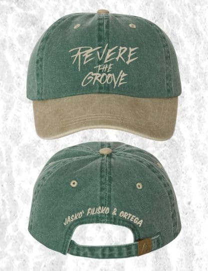 revere the groove hat green and khaki