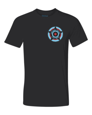Front of CPD Black Performance Tech TShirt