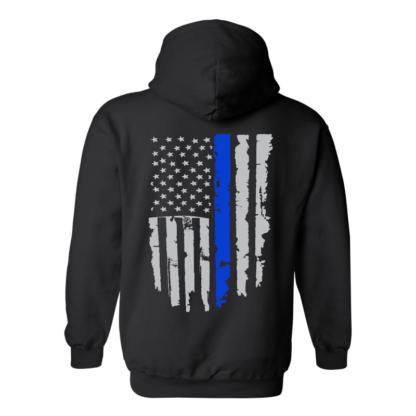 back the blue hoodie back