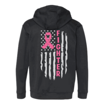 breast answer awareness hoodie back