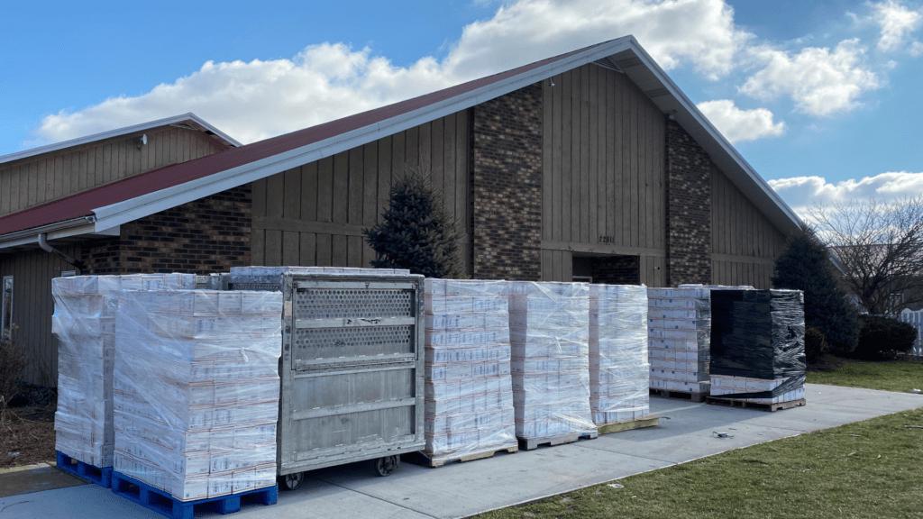 stacks of shipments